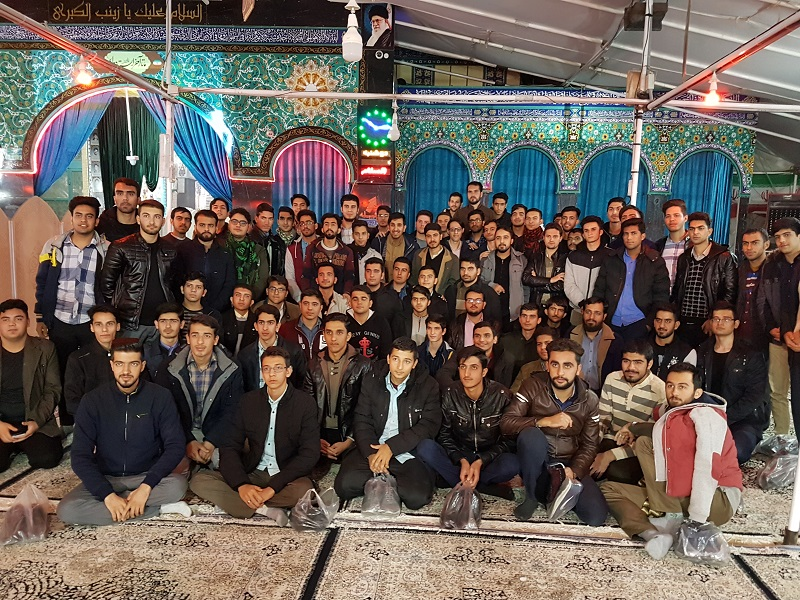حضور دانشجومعلمان اصفهان در مقبره شهیدحججی